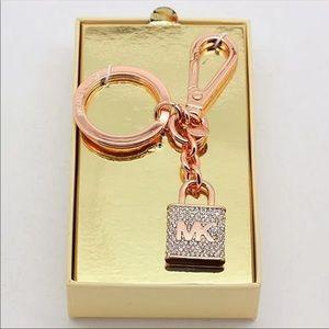 Michael Kors bling rose gold keychain